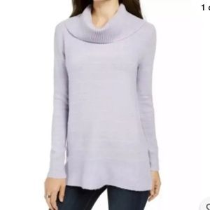 Style and Co pastel purple cowleneck NWT